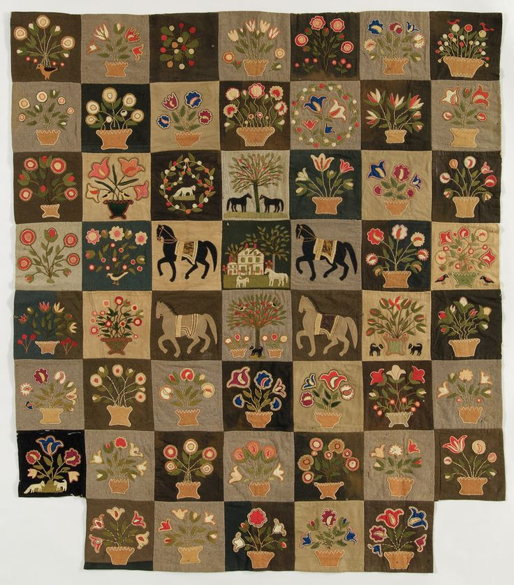 Enlarge to appreciate. Attributed to Emily Monroe, c. 1865. New England Quilt Museum; photograph by David Stansbury.