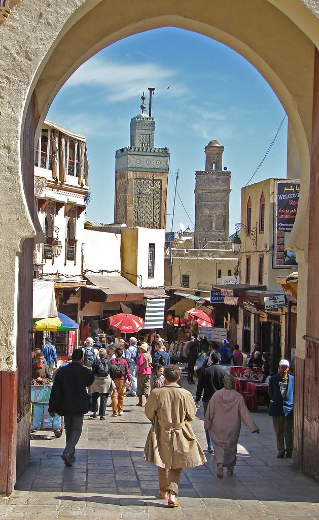 The old Medina of Fes is one of the most beautiful, and largest in the country.  Fes MOROCCO.