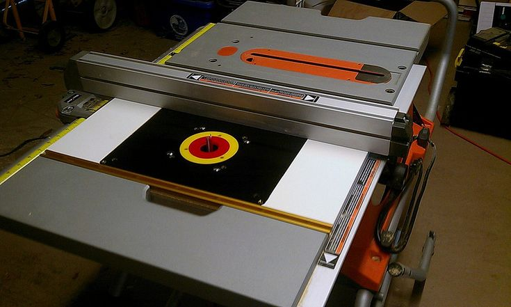 Router Insert for a Ridgid R4510 Table Saw