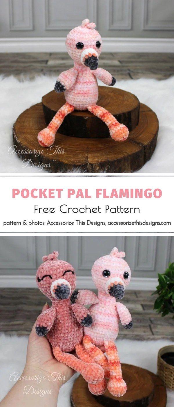 Knitted Flamingo Amigurumi Free Patterns | 1400x600