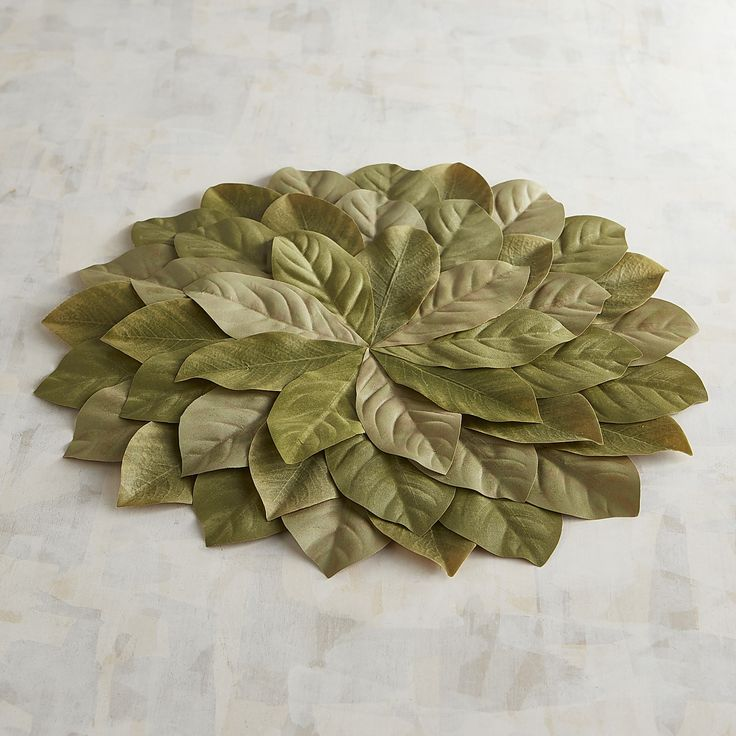 Faux Magnolia Greenery Placemat Table Linens