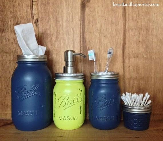 Seattle Seahawks  Mason Jar Bathroom Accessories by HeartlandHope