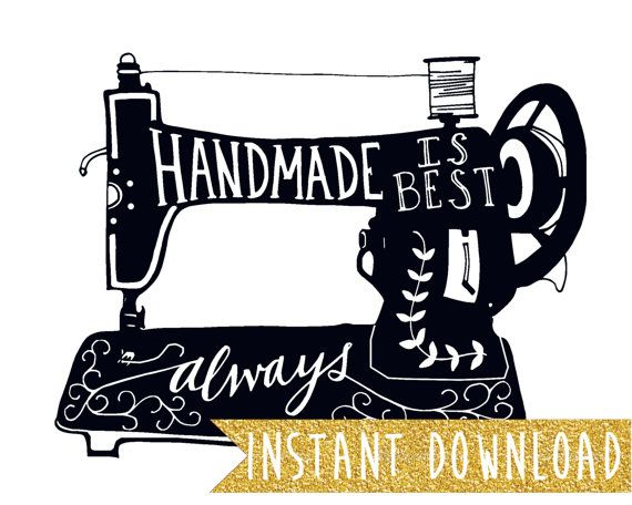 Handmade Is Best Always. 8x10 print design. Original artwork by Mandy England, available as an instant download.  This printable print download link