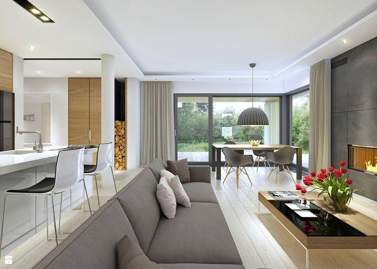 DOBRY 3 - salon - zdjęcie od DOMY Z WIZJĄ - nowoczesne projekty domów - Salon - Styl Minimalistyczny - DOMY Z WIZJĄ - nowoczesne projekty domów