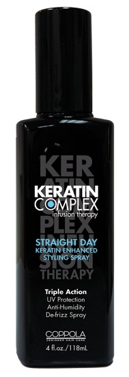 Keratin Complex Straight Day Styling Spray This helps with humidity and locks in your color even if the harsh UV rays are shinning on you all day long !!!