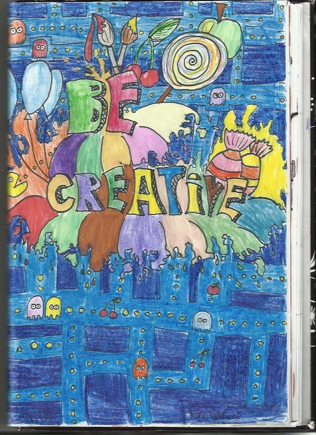 Be Creative! :D Jeden pátek při nudě ve škole, poté doděláno na ZUŠce a potom doma. Pastelky, fixy.