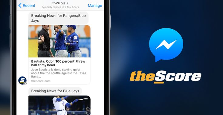 theScore for Facebook Messenger  Live sports scores & news from MLB NBA NFL NHL and soccer.Follow @producthuntlive
