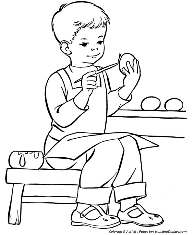 137 best coloring easter halloween images on pinterest for Easter coloring pages for boys