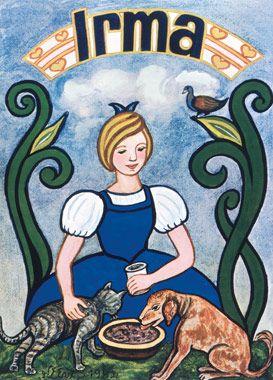 Danish poster by Henry Heerup - 'The Irma Girl'