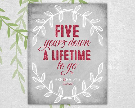 5th Year Wedding Anniversary Gift Ideas: 17 Best 5th Anniversary Ideas On Pinterest