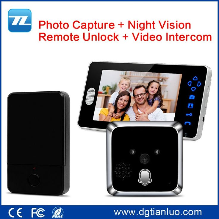 """3.5"""" or 7"""" Wireless Peephole Video Door Phone,Battery Standby Duration over 1 Year"""