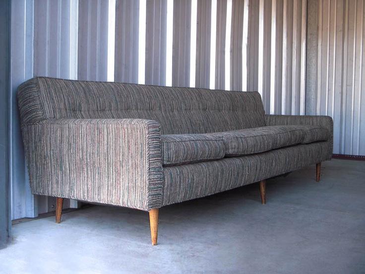 Danish Scandinavian Floating Sofa Mid Century Modern Wormley Baughman Era Couch
