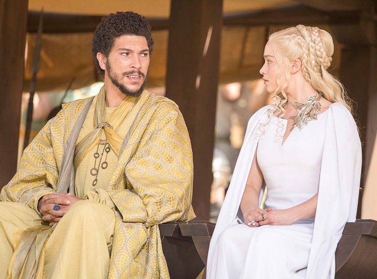 Hizdahr Zo Loraq (Joel Fry) and Daenerys Targaryen (Emilia Clarke) from Holy Mother of Dragons! All the Epic Game of Thrones Season 5 Moments