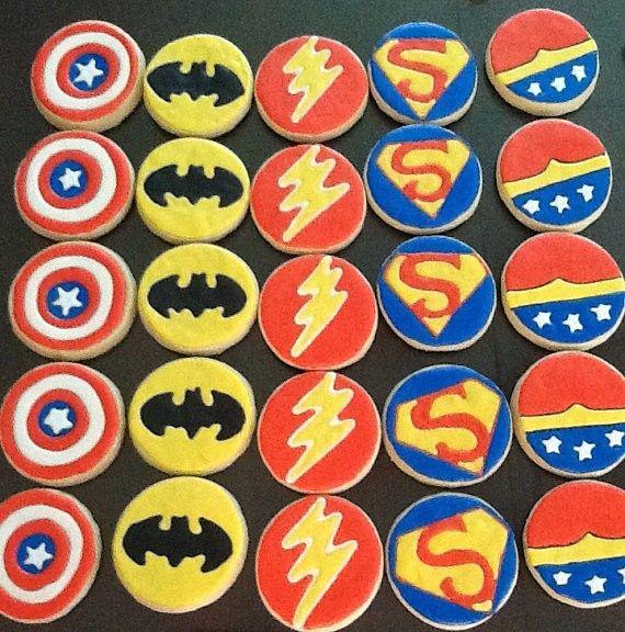 Superhero Cookies #food #cookies www.loveitsomuch.com