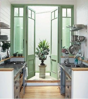 I LOVE this minty 1920's color particularly when it comes to kitchens - it…