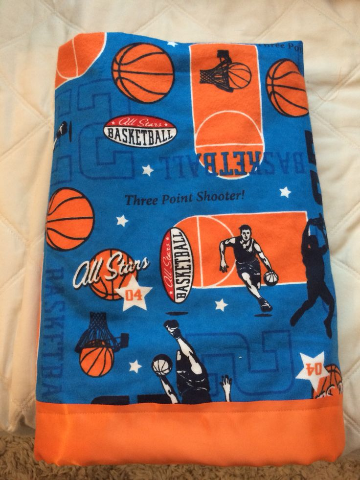 Handmade Basketball Themed Baby Blankets