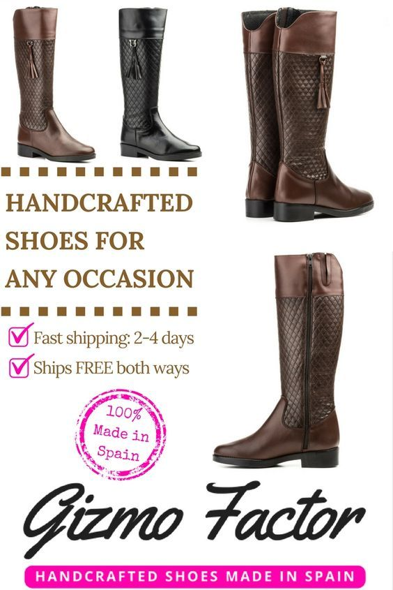 Gizmo Factor's mission is to provide customers with luxurious crafted footwear 100% made in Spain, along with fast shipping. Most of our products will arrive on your doorstep in 2 to 4 business days. Our company's goal is to deliver great customer service and a painless internet shopping experience. We offer free shipping both ways and a 60 day return policy.