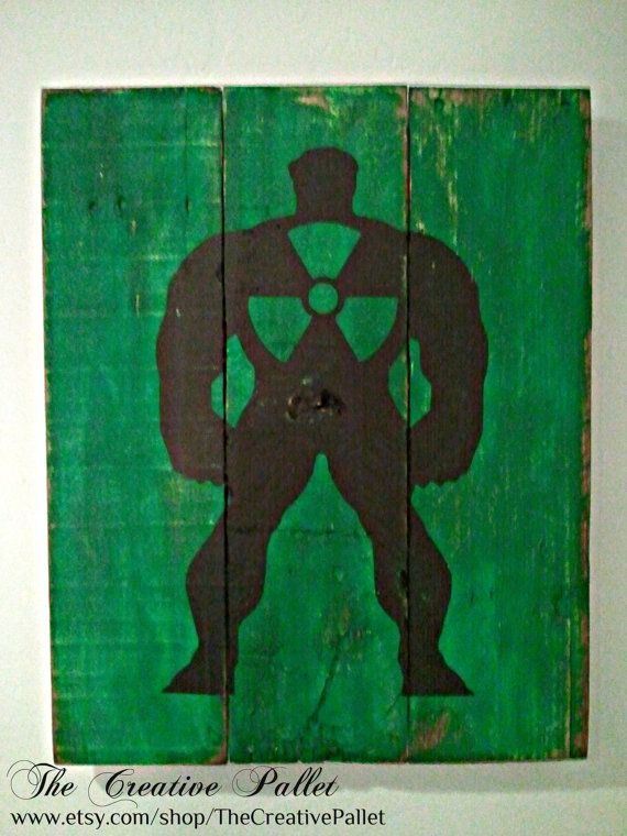 The Hulk Vintage Wood Pallet Sign by TheCreativePallet on Etsy, $45.00
