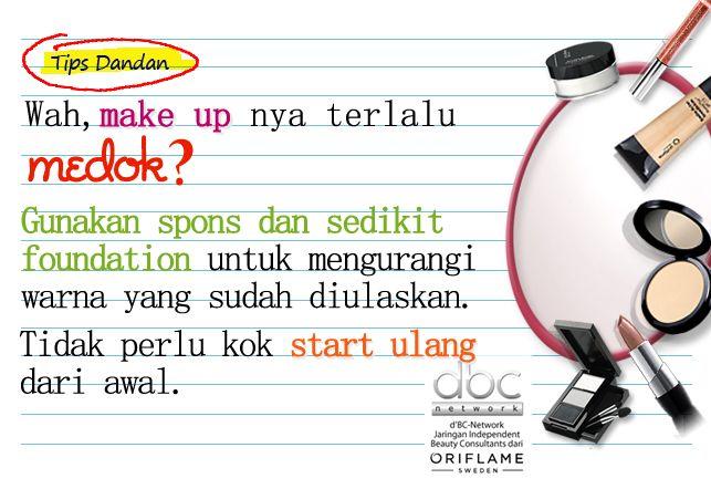 Tips mengurangi make up medok