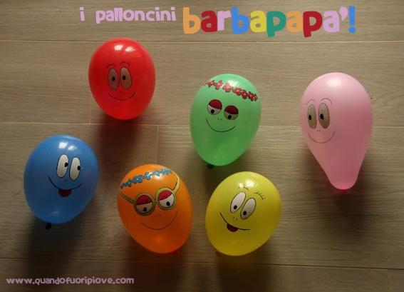 Quandofuoripiove: quei palloncini gonfiati dei Barbapapà!  Mi piacciono!!!!