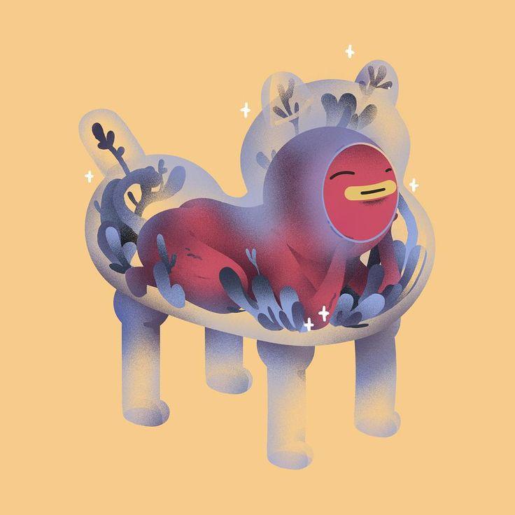 Last artwork for 2017. 🐕  _  #illustration #drawing #draw #art doodle #fantasy #fanart #design #characterdesign #artwork #artoftheday #digitaldrawing #digitalart #artwork #instagood #artistsofinstagram #graphic #grapgicdesign #anime  #instaart #instadaily #instaartist #character #homunculus #armour #fantasy #fantasyart #dog #doggo #doggolove #chinesenewyear @illustration_daily @illustrationage @illustrationartists @illustree  @hifructosemag