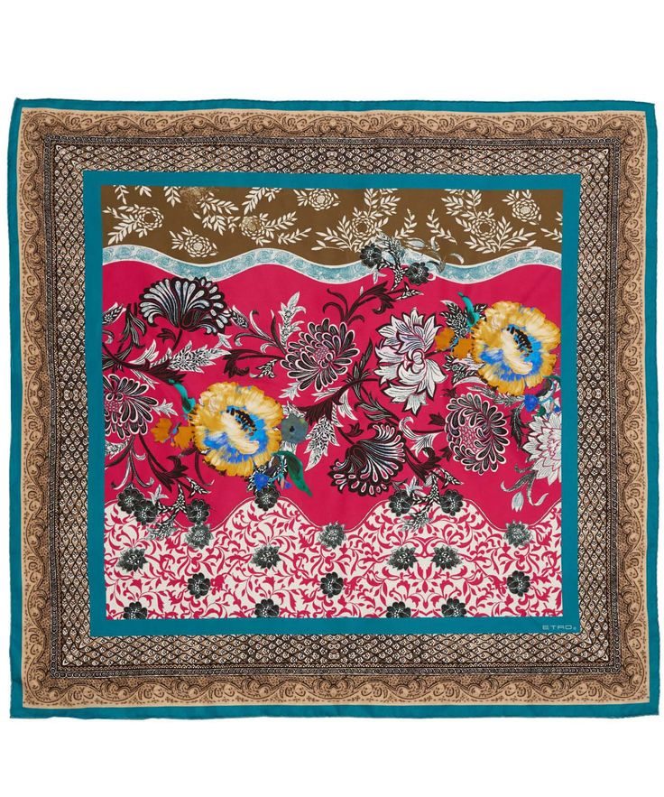 Floral foulard scarf from Etro. Shop at http://www.liberty.co.uk/fcp/categorylist/designer/etro #LibertyScarf