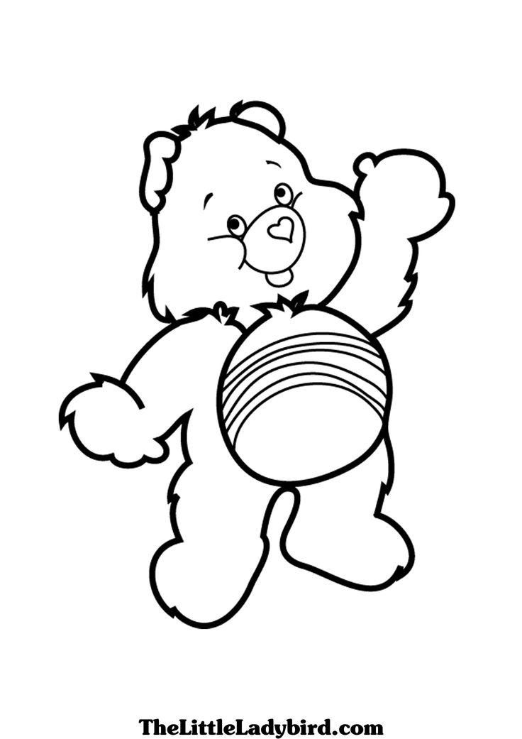1000 images about adult coloring pages on pinterest coloring  free printable coloring pages Care Bears Coloring Pages Printable  Cheer Bear Care Bear Coloring Pages