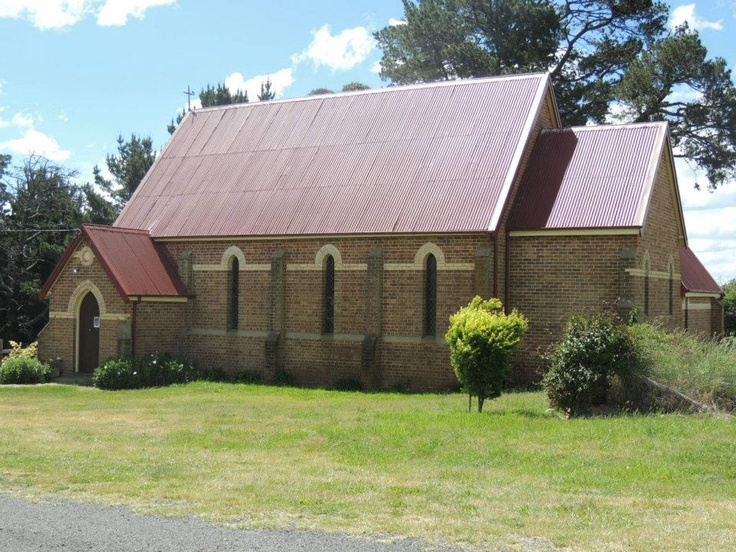 St Canice's Church Millthorpe, NSW, one of 3 churches in Millthorpe Cemetery