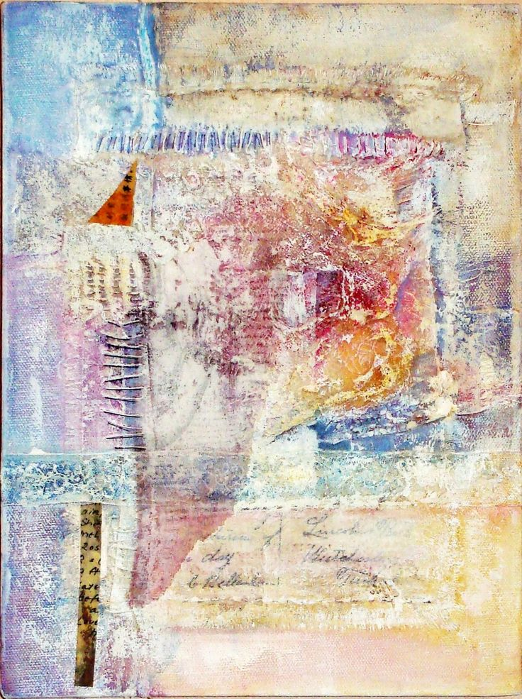Subterfuge : cloth, stitch, paint, on stretched canvas by Ailie Snow