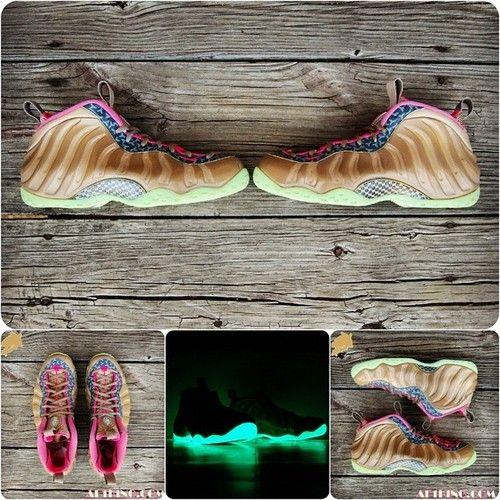 """Custom """"Net Yeezy"""" Foamposite which will be limited to 6 pair. http://www.foampositesgalore.com #nike #foamposite #Yeezy"""