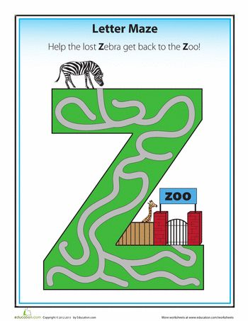 Z Maze | Education.com