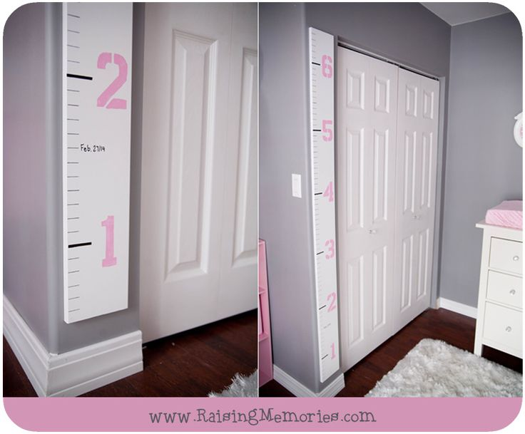 DIY Height Chart for Nursery by www.RaisingMemories.com