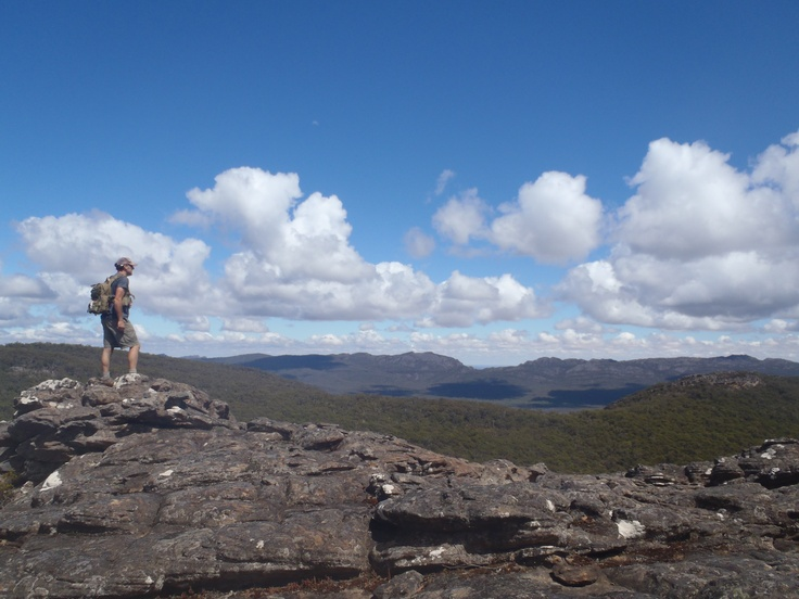 """I like """"getting"""" """"some where"""" the best, but the view at """"the top"""" was fantastic here! Northern Grampians, Victoria."""