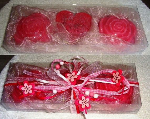 Boxed Pink Handmade Gift Set Luxury by JoannasScentedSoaps on Etsy