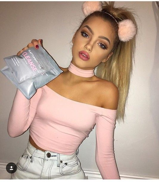 shirt top off the shoulder top pink top long sleeve crop top off the shoulder choker necklace crop tops pink long sleeves girl girly choker necklace cute crop girly wishlist tumblr crop tops cropped blush nude baby pink
