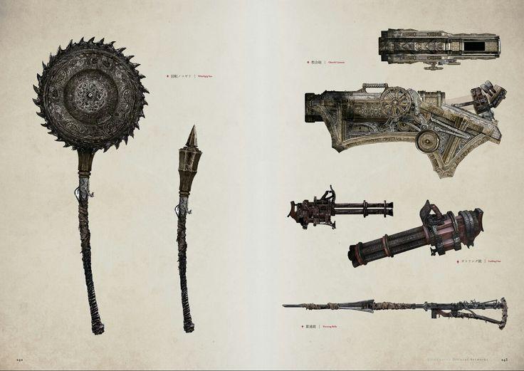 Bloodborne Concept Art - Weapon Concept Art
