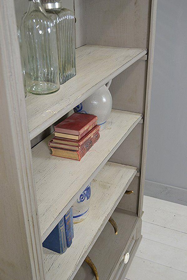 Rustic Dutch Shabby Chic Pine Bookcase artwork