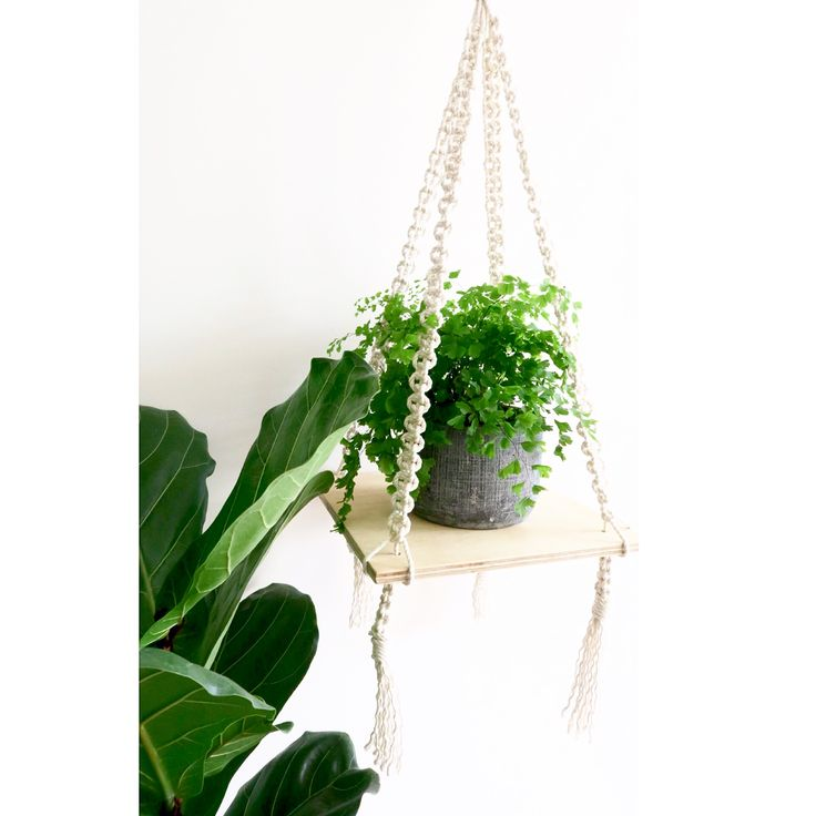 Latest Made by Lucy Macrame floating shelf