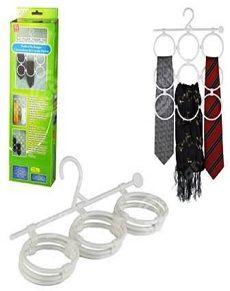 Perfect Tie Hanger Kravatlık Kravatlarınızı, Eşarplarınızı, Fularlarınızı Düzenli Bir Şekilde Asabilmeniz ve Dolaplarınızdaki Eşya Kargaşasına Kolayca Son Verebilmeniz İçin Tie…
