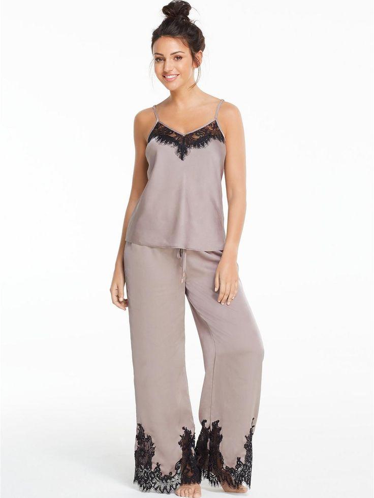 Michelle Keegan Lace and Satin Pyjama Set, http://www.very.co.uk/michelle-keegan-lace-and-satin-pyjama-set/1600195490.prd
