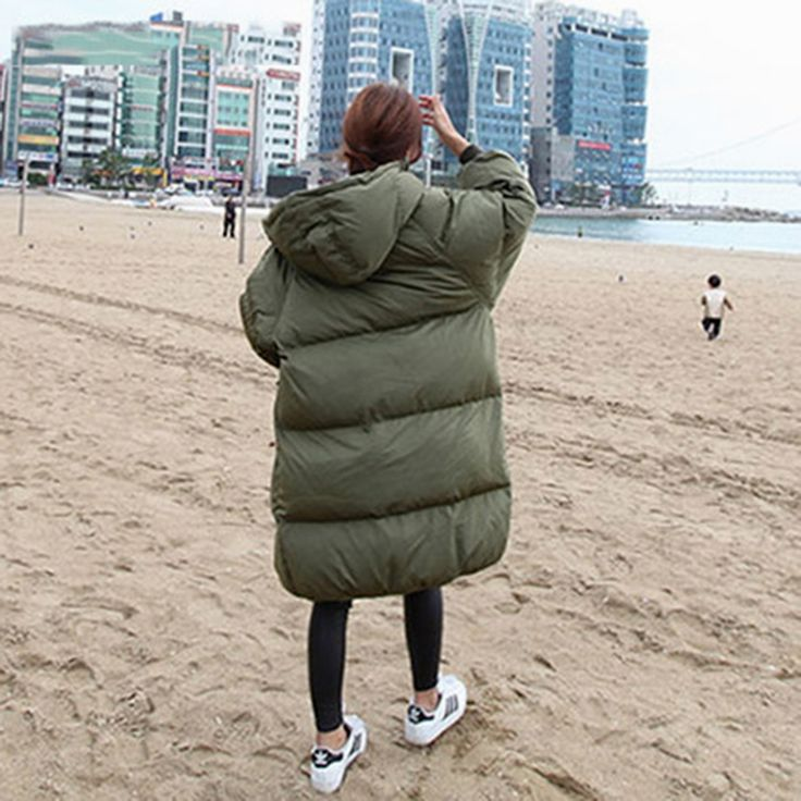 QAZXSW 2017 New Korean Cotton Coat Women Long Parkas Plus Size Ladies Warm Padded Jacket Loose Thick