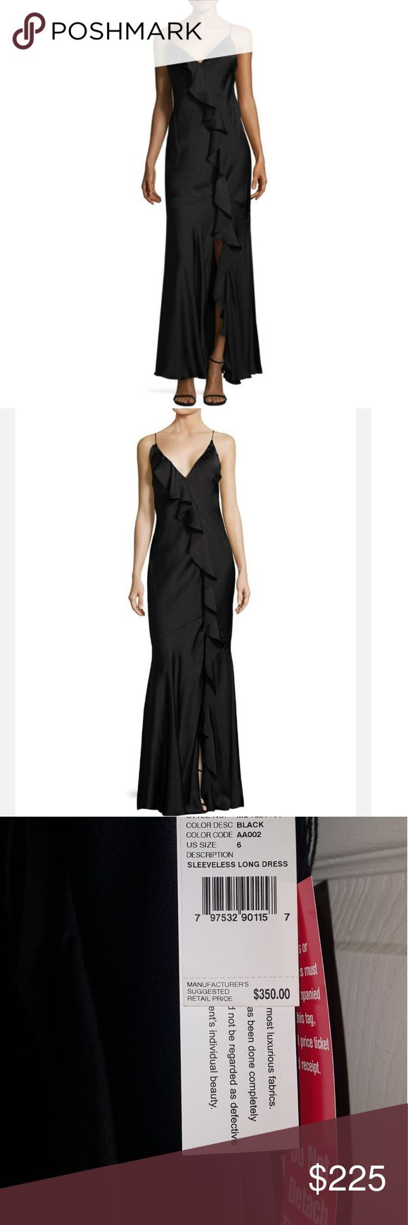 🌟JUST IN!🌟🆕AIDAN MATTOX WRAP DRESS AIDAN MATTOX RUFFLED WRAP LONG DRESS NEW WITH TAGS COLOR BLACK SIZE 6 SLEEVELESS, SPAGHETTI STRAPS WOVEN GOWN SWEETHEART NECK,RUFFLED DETAIL IN FRONT,OPEN BACK TONAL TOPSTITCHING & PANEL SEAMING GATHERED SPLIT HEM AT FRONT HIDDEN BACK ZIPPER, FULLY LINED SHELL/LINING 100% POLYESTER 🌟BEAUTIFUL CLASSY SIMPLE ELEGANT LONG DRESS🌟 *NO TRADES NO RETURNS* Aidan Mattox Dresses Backless