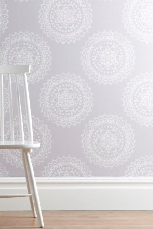Intricate lace medallion wallpaper 15 at next for the for Wallpaper next home