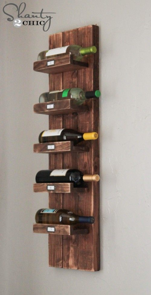 Schöne Inspiration für ein DIY Weinregal