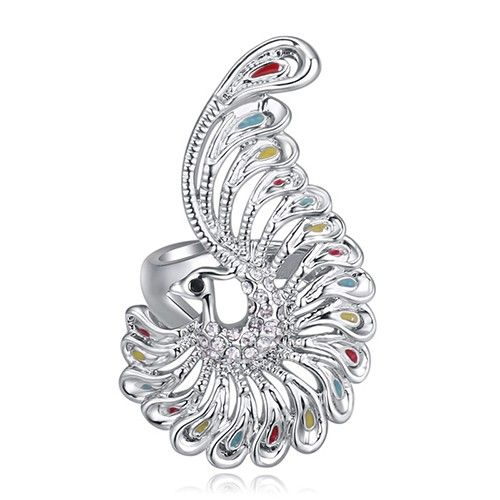 $7,75 Peacock elegance Swarovski crystal cocktail ring - Jewelry Wholesale. BEST PRICE: Directly in the jewelry factory. VAT-free shopping: Available, partners based in the European Union, only applies to EU tax identification number (UID). Exclusive design SWAROVSKI crystals and AAA Zircon crystal engagement rings, wedding & bridal rings, cocktail party rings.