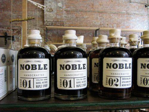 {noble handcrafted syrup}: Vintage Bottle