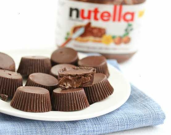 chocolate nutella cups