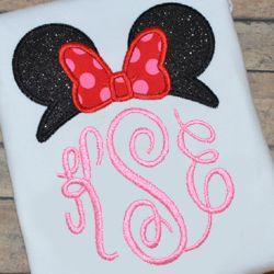 Miss Mouse Topper Applique                                                                                                                                                                                 More