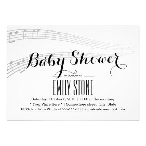 Simple and Elegant Musical Baby Shower
