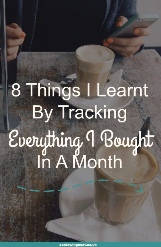 Tracking your spending can be a great first step on your mission to save money and improve your finances. Once you know where your money is going, you can get the money making and money saving wheels in motion. Here are 8 things I learnt by tracking everything I bought in a month
